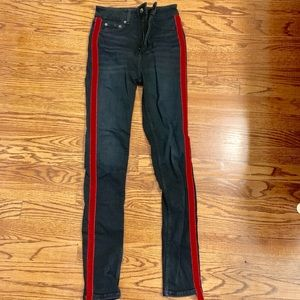 Zara Red Stripe Jeans